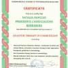 Certificato in cosmetologia
